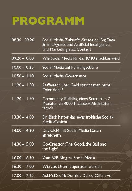 Programm Social Media Konferenz