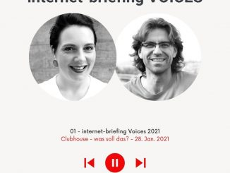 Podcast internet-briefing zum Thema neue Voice App, Clubhouse